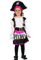 imagen Disfraz Pirata Chica Bebé Talla S
