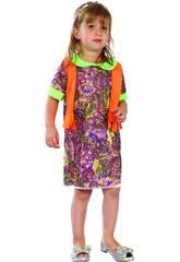 Disfraz Hippie Chica Bebé Talla S