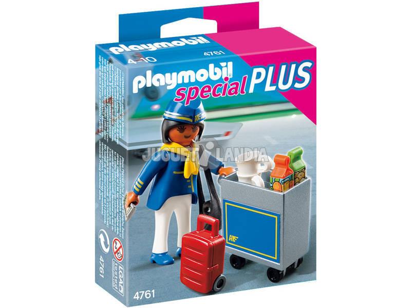Playmobil Hotesse de l´air avec chariot de service