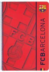 Quaderno copertina rigida 80 fogli FCB 2ª Equipacion