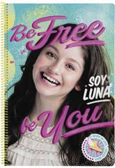 Libreta Folio Tapas Duras 80 h. Soy Luna Be Free