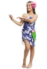 Disfraz Niña S Princesa Hawaiana