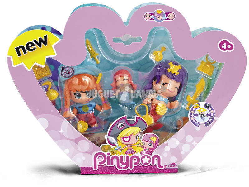 Pin y Pon Piratas y Sirenitas Pack 3 Famosa 700013366