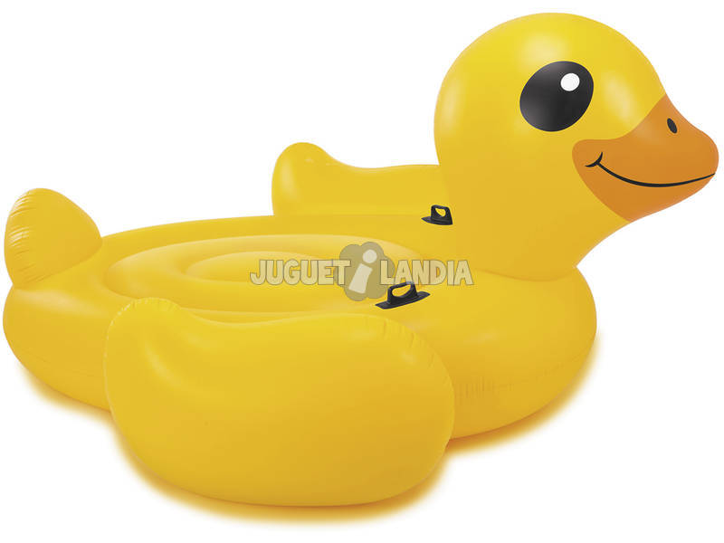 Isla Hinchable Mega Pato Amarillo 221x109 cm. Intex 56286