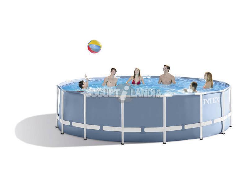 acheter piscine hors sol prism frame 457x122 cm intex 28736 juguetilandia. Black Bedroom Furniture Sets. Home Design Ideas