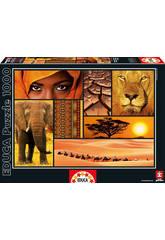 Puzzle 1000 Couleurs de l'Afrique