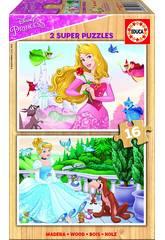 Puzzle 2x16 Princesas Disney