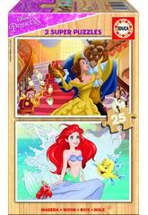 Puzzle 2x25 Princesas Disney 26x18 cm Educa 17164