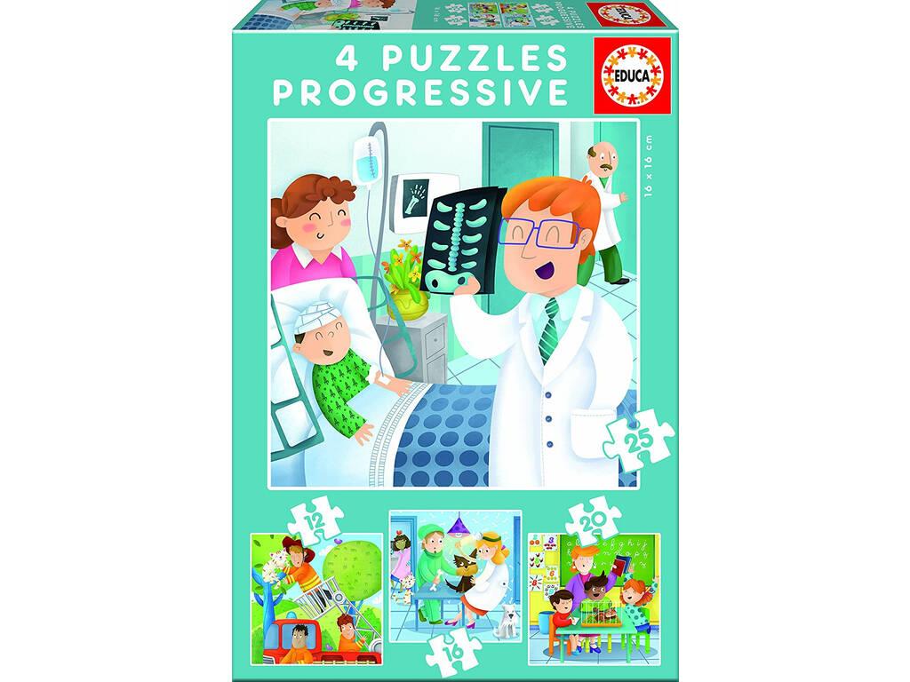 Puzzles Progressifs 12-16-20-25 les Métiers