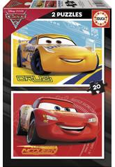 Puzzle 2X20 Cars 3 28x20 cm EDUCA 17176