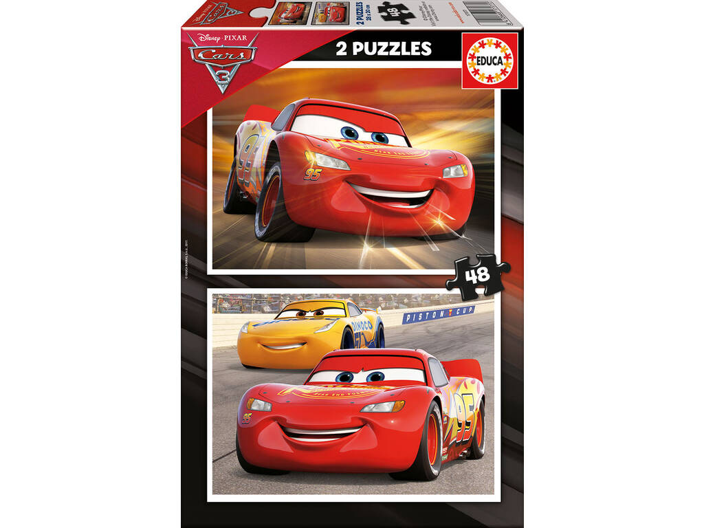 Puzzle 2X48 Cars Educa 17177