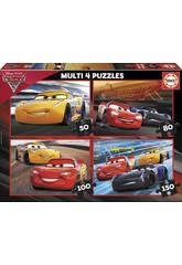 Puzzle Multi 4 50-80-100-150 Cars 3