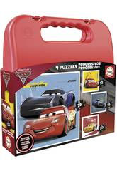 Puzzle Valise Progressive Cars Educa 17175