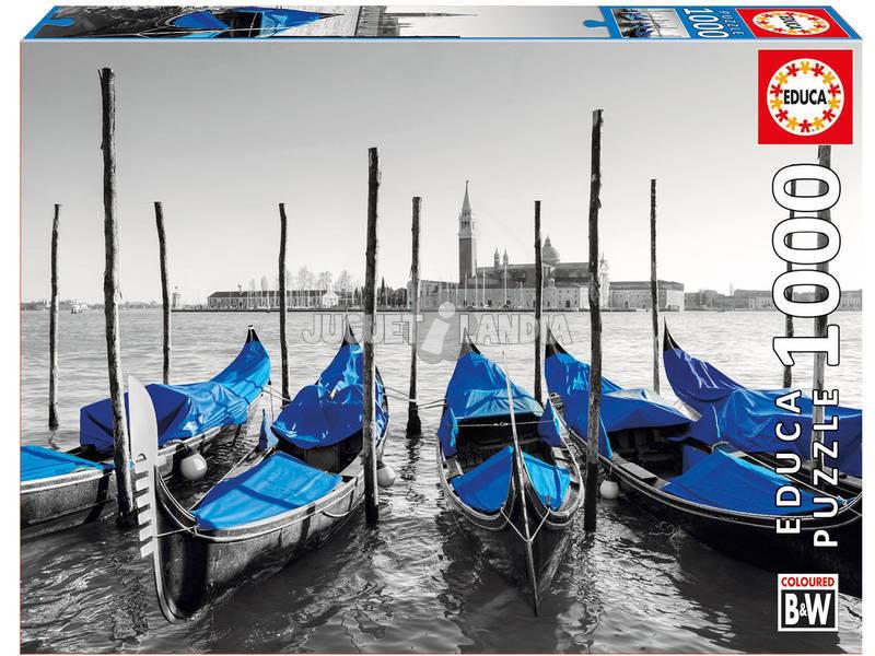 Puzzle 1000 Góndolas En Venecia