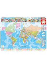 Puzzle 1500 Carte du Monde