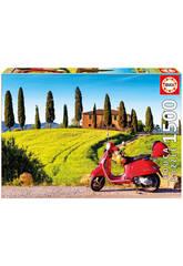 Puzzle 1500 Vespa alla Toscana
