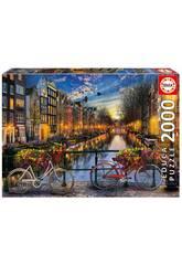 Quebra-cabeça 2000 Amsterdam 96x68 cm EDUCA 17127
