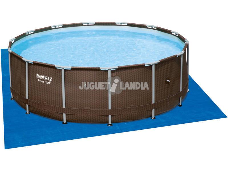 Piscina rattan frame depuradora de arena 427x107 cm for Depuradora piscina arena