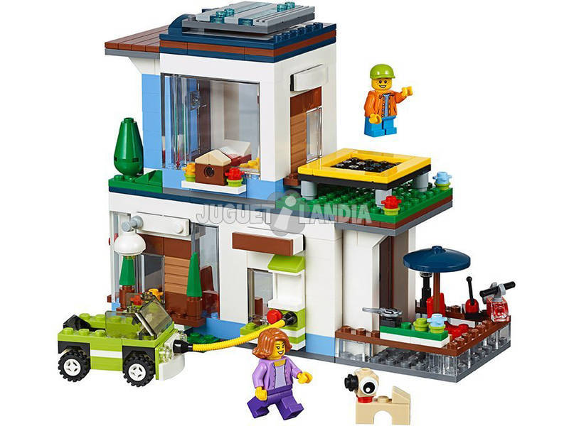 Lego creator casa moderna 31068 juguetilandia for Casa moderna lego