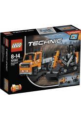 imagen Lego Technic Equipo de Trabajo en Carretera 42060