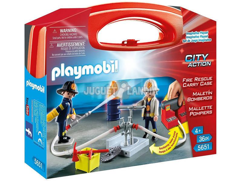 Playmobil Maletín Grande Bomberos 5651