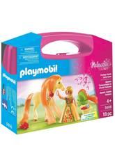 imagen Playmobil Valisette Princesse avec Cheval