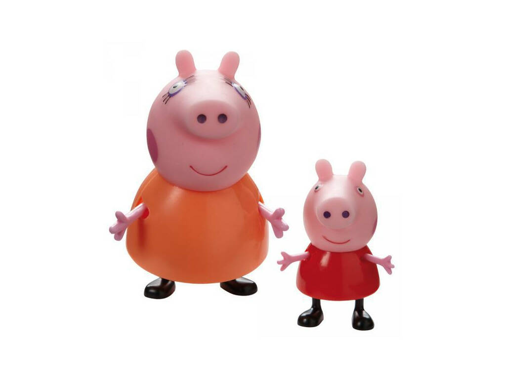 Peppa Pig Figuras Coleccionables Familia Pig. Bandai 04768