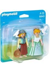 imagen Playmobil Duopack Princesa y Granjera 6843