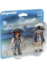 imagen Playmobil Duopack Pirata y Soldado 6846