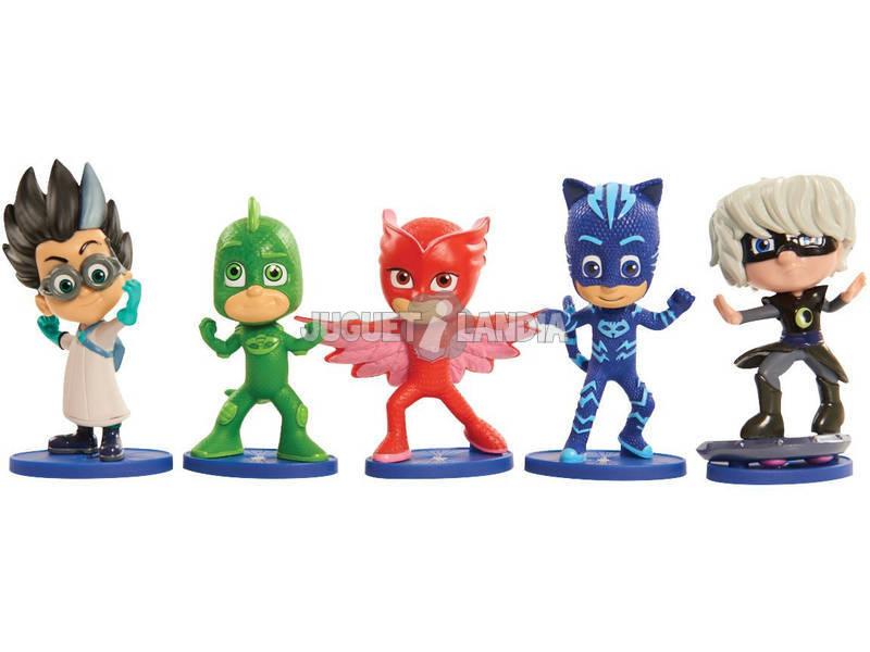Pack de 5 Figuras PJ Mask 9cm Bandai 24580