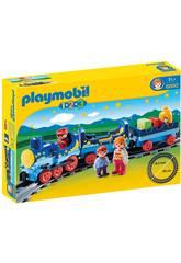 Playmobil 1,2,3 Zug mit Routen 6880