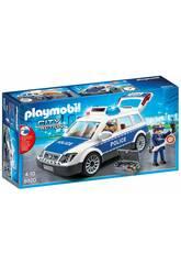 imagen Playmobil Coche Policía con Luces y Sonido 6920