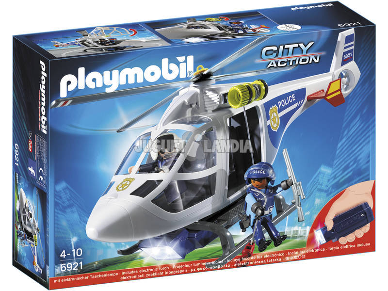 Playmobil Helicóptero de Policía con Luces Led 6921