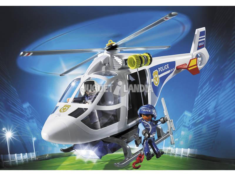 Elicottero Playmobil : Playmobil elicottero della polizia con luce di