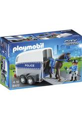 Playmobil City Action Poliziotta a Cavallo con Rimorchio 6922