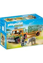 imagen Playmobil Véhicule avec Éléphanteau et Soigneurs 6937