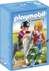 Playmobil Spaziergang mit Pony 6950