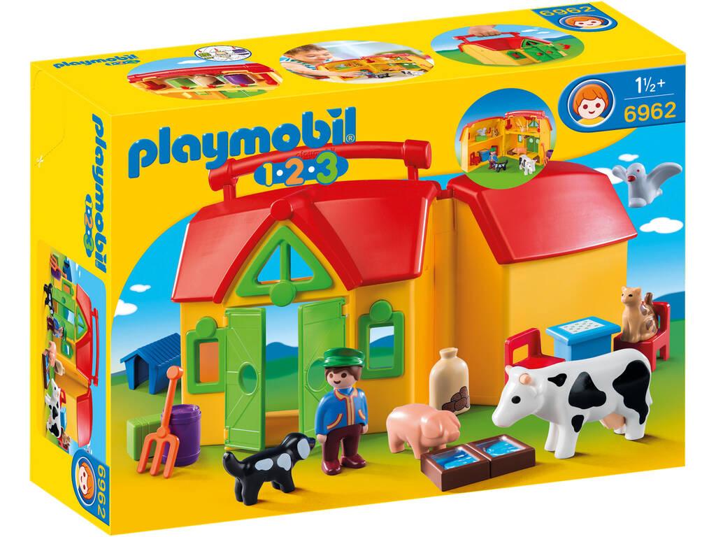 Playmobil 1,2,3 Granja Maletín