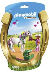 imagen Playmobil Jinete con Poni Corazón 6969