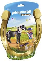 imagen Playmobil Jinete con Poni Estrella 6970