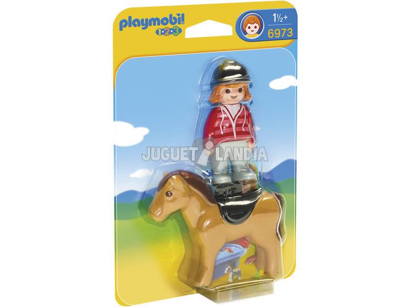 Playmobil 1,2,3 Jinete con Caballo 6973