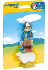 Playmobil 1, 2, 3 Fermier avec Mouton 6974