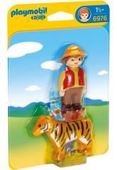 imagen Playmobil 1,2,3 Adiestrador con Tigre 6976