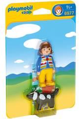 Playmobil 1,2,3 Ragazza con Cane 6977
