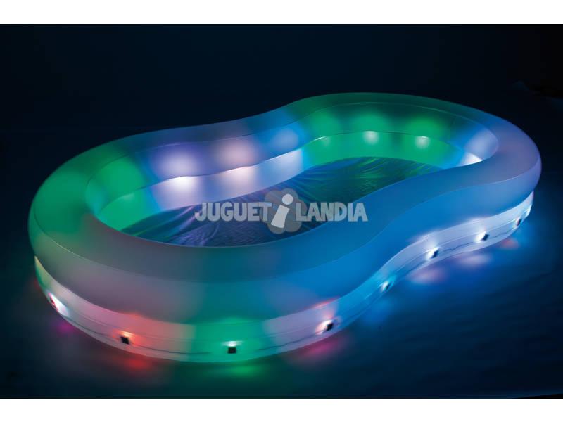 acheter piscine gonflable hors sol 280x157x46 cm change de couleur juguetilandia. Black Bedroom Furniture Sets. Home Design Ideas