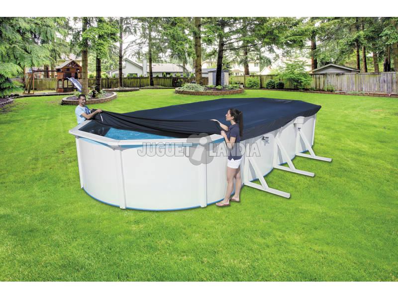 Cubierta para piscina de 740x360x120 cm bestway 58455 for Cubre piscina bestway