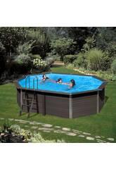 imagen Piscina Madera Composite Pool 804x386x124 Cm Gre KPCOV80
