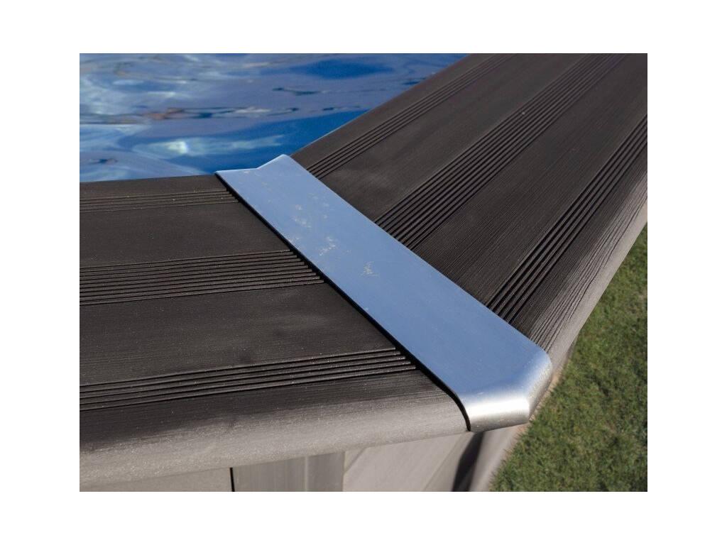 Piscina legno composite pool 664x386x124 cm gre kpcov66 for Piscina composite