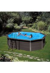 Piscina Madera Gre Composite Pool 664x386x124 cm.