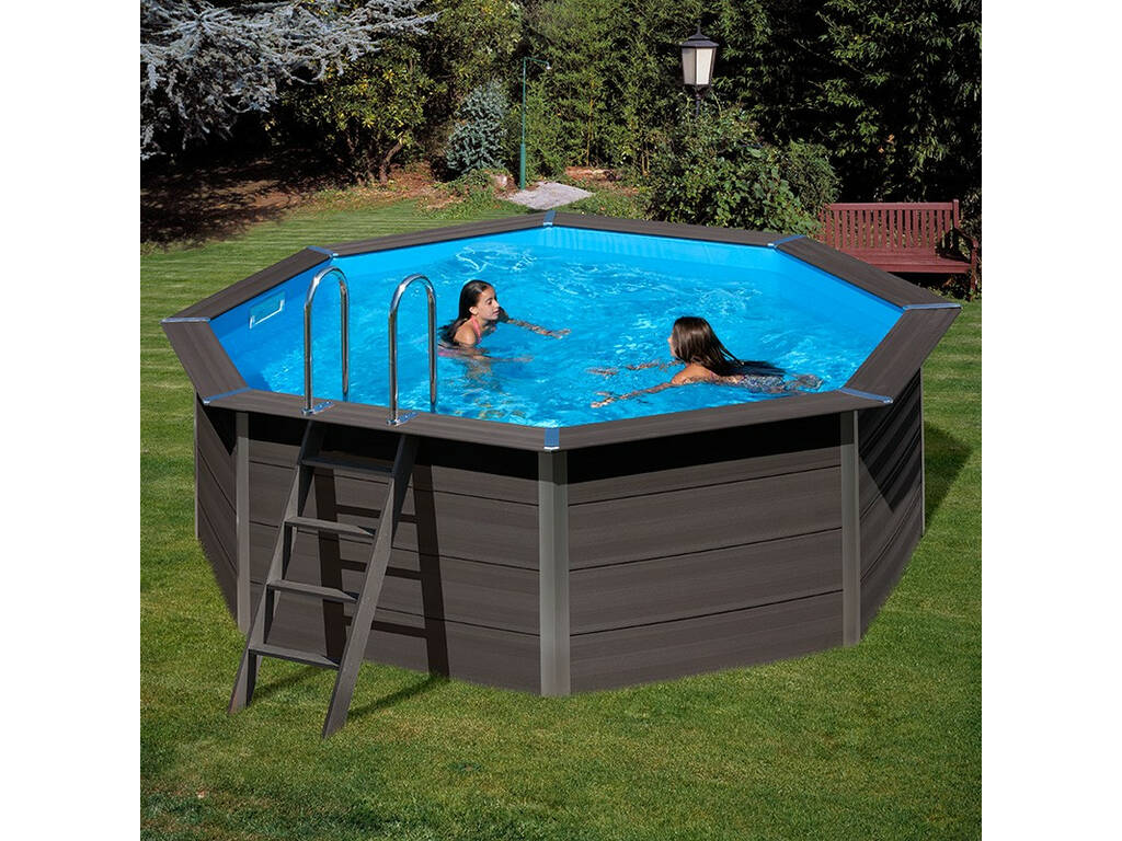 acheter piscine bois gre composite pool 410 x 124 cm juguetilandia. Black Bedroom Furniture Sets. Home Design Ideas